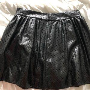 Black leather skirt !!